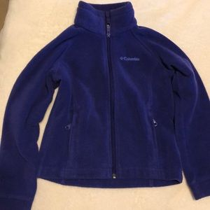 Girls Columbia XS zip up sweatshirt